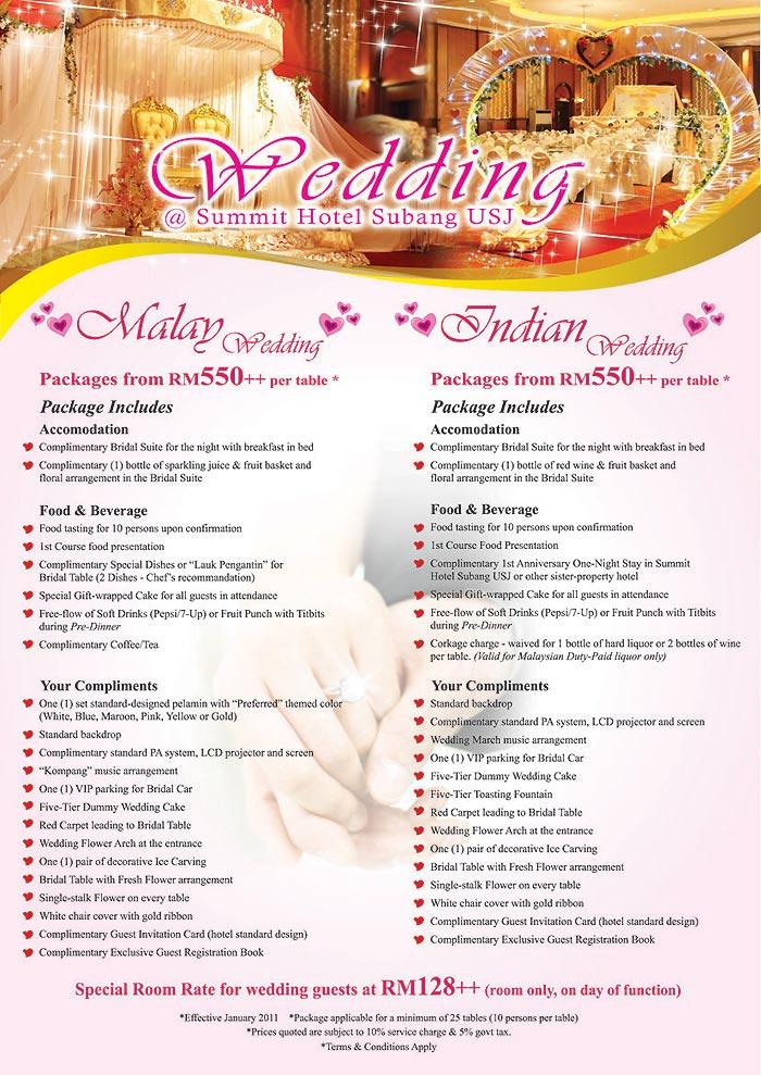 Wedding Packages Summit Hotel Subang USJ