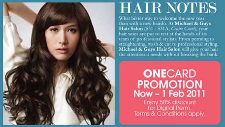 Michael & Guys Hair Salon Promotion @ One Utama
