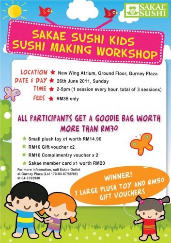 Sakae Sushi Kids Sushi Making Workshop Gurney Plaza