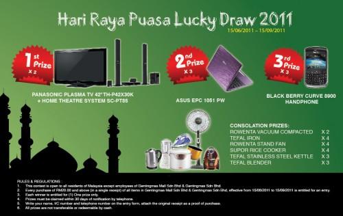 Hari Raya Puasa Lucky Draw 2011 @ Gentingmas Mall