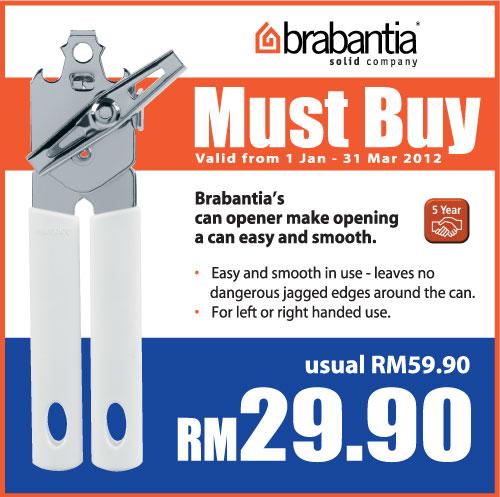 must buy brabantia can opener ikano power centre. Black Bedroom Furniture Sets. Home Design Ideas