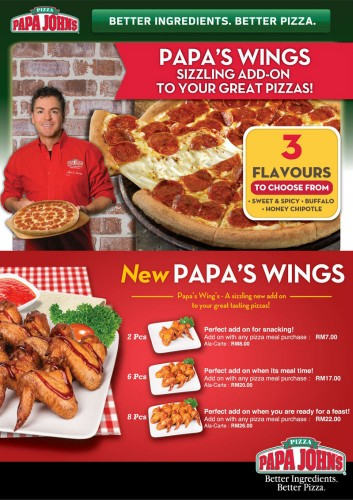 Papa Johns Wings Promo Code. To help you find the best Papa Johns Wings coupon codes and Papa Johns Wings promotional codes with ease, jdgcrlweightlossduzmpl.ml classifies a wide variety of Papa Johns Wings coupons by tag for the sake of your conveniences. The coupon codes, promotional codes & discount codes below are tagged as Papa Johns Wings.