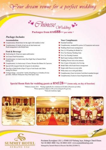 Wedding Packages @ Summit Hotel Subang USJ